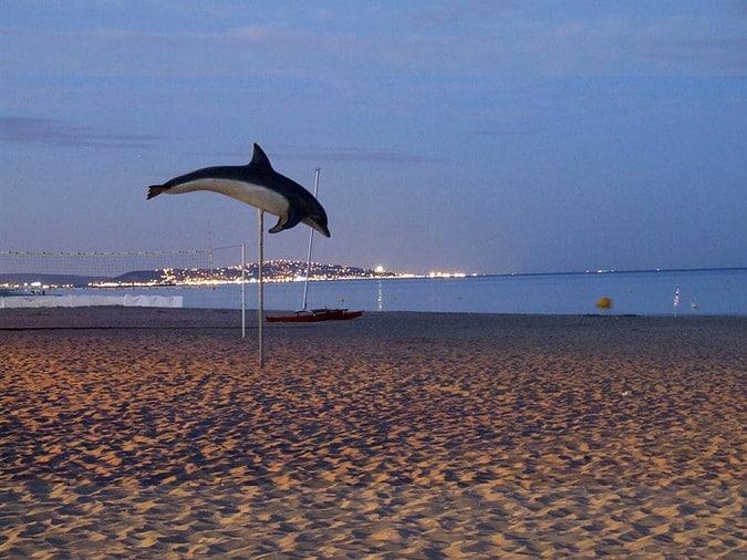 The beach at Le Cap d'Agde at night