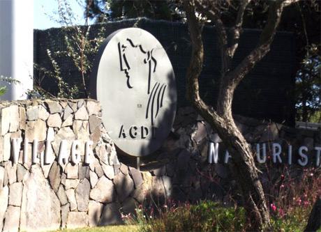 Village entrance sign.